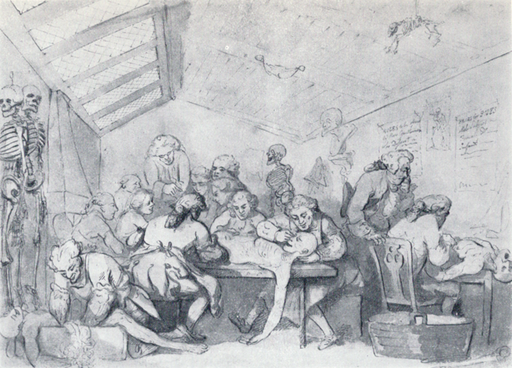Rowlandson_-_Hunter's_dissection_room